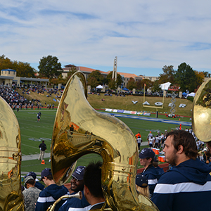 The band at a football game