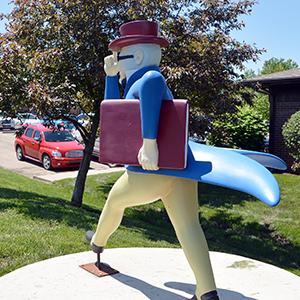 Ichabods Around Town statue at MRH Insurance