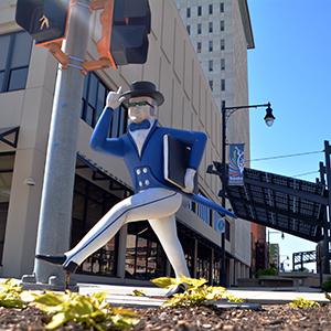 Ichabods Around Town statue at Westar Energy