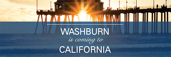 Washburn is coming to California