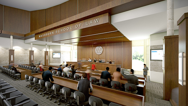 School of Law rendering of court room