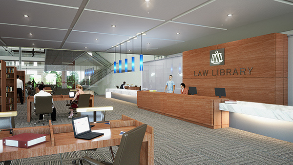 School of Law rendering of law library