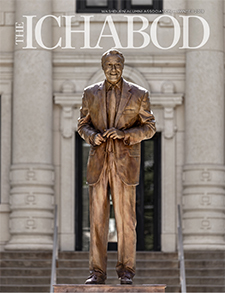 Winter 2019 Ichabod magazine cover with Bob Dole statue on front