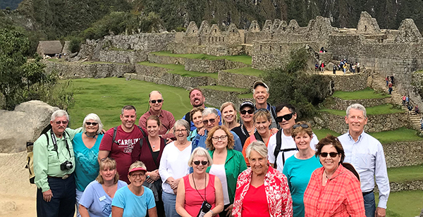 Washburn alumni travel group in Peru