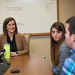 Students, professor and alumni in Garden City during spring break