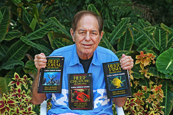 Paul Humann with some of the books he's published