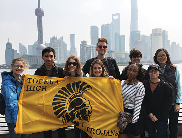 Students from Topeka in Shanghai