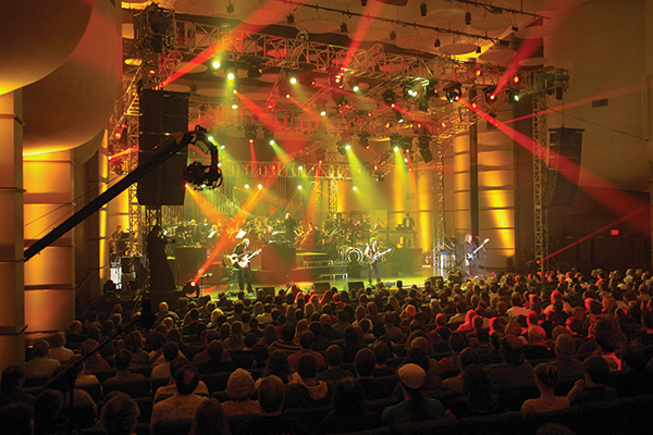 Rock band Kansas performing in White Concert Hall