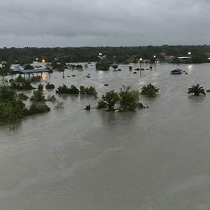 Flooding in Baytown, Texas