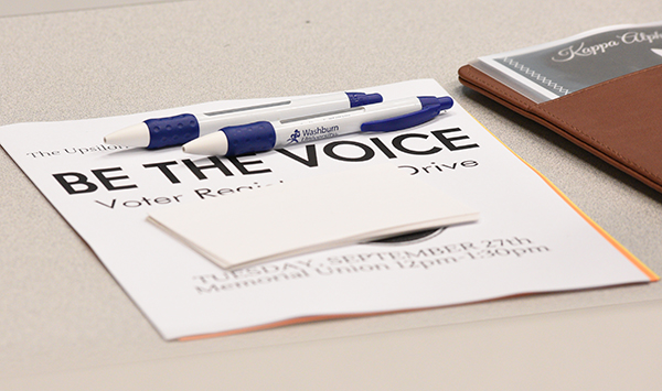 Be the voice, voter registration form