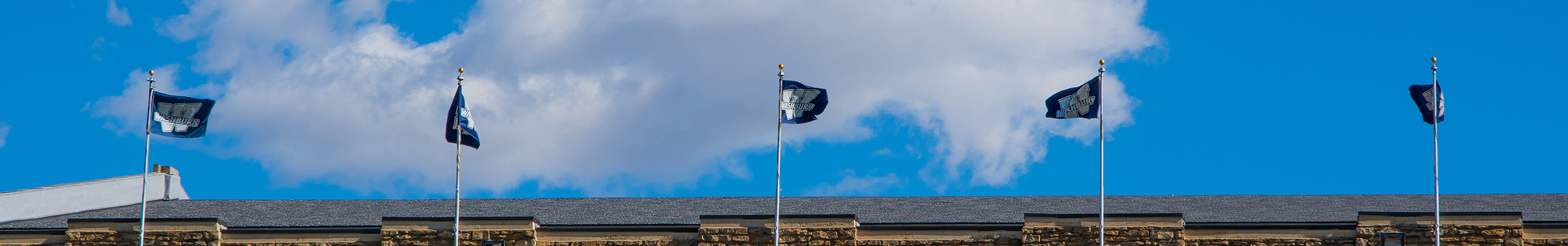 Whiting Fieldhouse flags