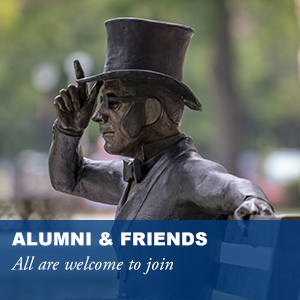 Alumni and Friends. All are welcome to join.
