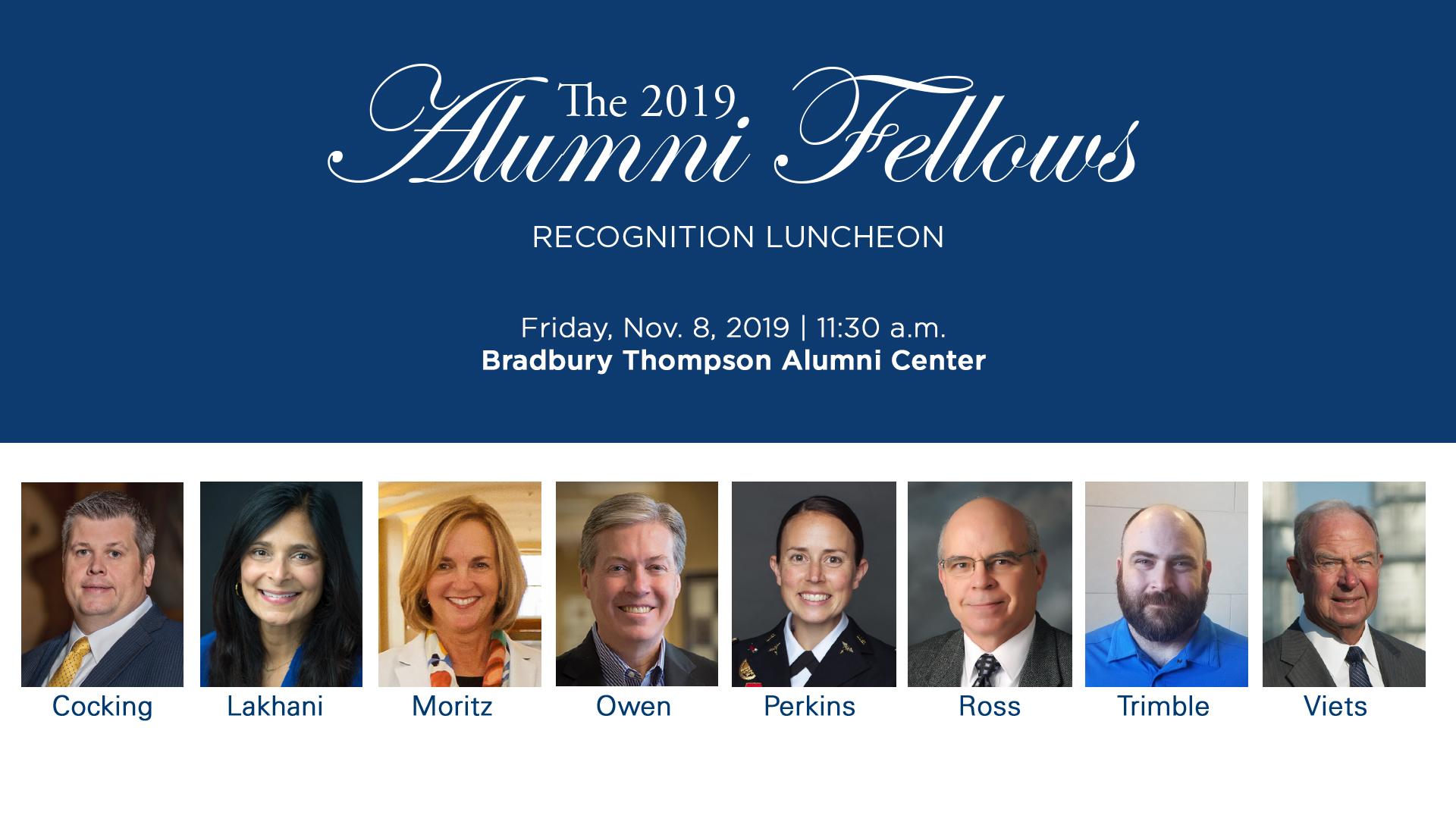 2019 Alumni Fellows
