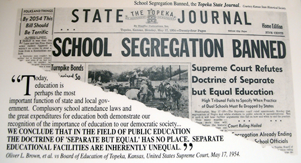 Brown vs Board of Education decision newspaper