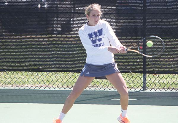 Casyn Buchman playing tennis