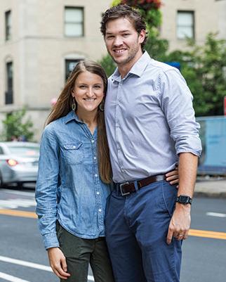 Bonnie McKee Crume and Alex Crume