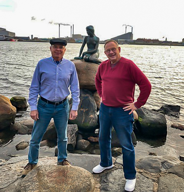 Richard Ross and Steve Hornberger in Denmark
