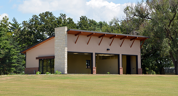 Indoor golf practice facility at Topeka Country Club