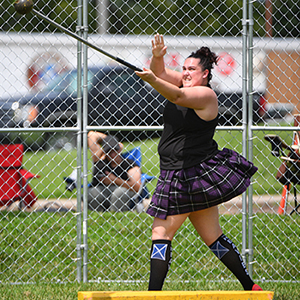 Kate Langworthy at Highland games