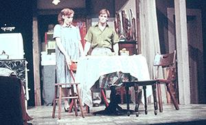 Kelie McIver on a play set