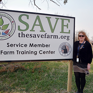 Shari LaGrange-Aulich at the SAVE farm