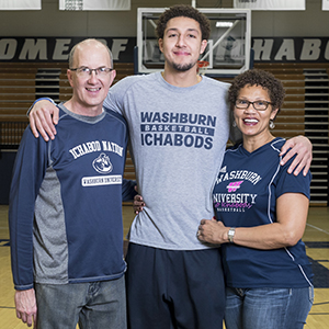 Brady Skeens and his parents Joy and Allen