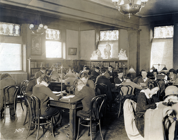 Carnegie Reading Room showing glass