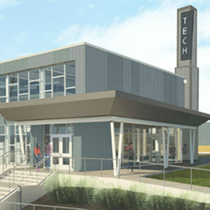 A rendering of Washburn Tech East