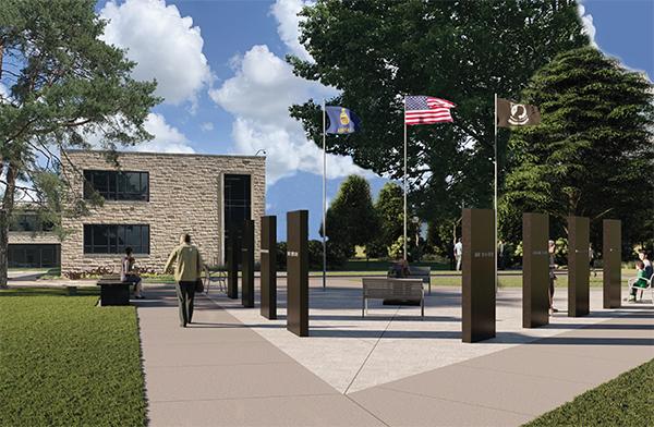 War memorial rendering