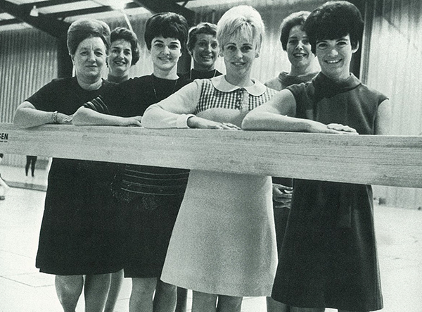 women's physical education department from 1967