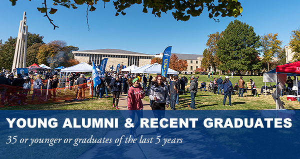 Young alumni and recent graduates. 35 or younger or graduates of last 5 years