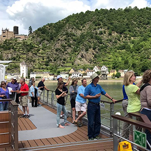 The deck during the Rhine River Cruise