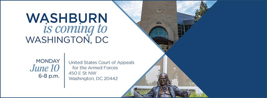 Washburn is coming to Washington DC