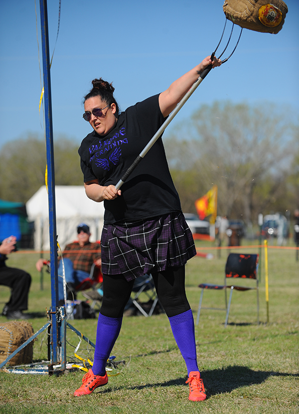 Kate Langworthy at the Scottish Highland Games